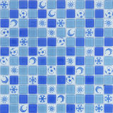 Glasmosaik-Fliese-Blumen-Muster-dekorative Fußboden-Fliese