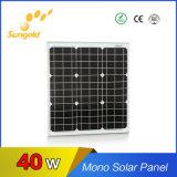 Panneau solaire mono 40W pour le meilleur prix solaire du pouvoir System18V