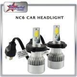 9USD / Set LED farol para preço muito barato, COB Chip 4200lm Super Bright 36W LED farol de carro com ventilador de arrefecimento Hi Low Beam