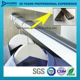 Profilo di alluminio di alluminio dell'espulsione per l'attaccatura del Rod del tubo del guardaroba