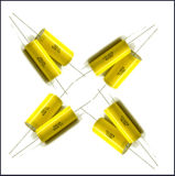구리 철사를 가진 축 금속을 입힌 폴리프로필렌 축전기 (Cbb20 825j/250V)