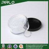 tarro cosmético plástico del polvo de 20g 20ml con la tapa del tamiz y de la cuerda de rosca