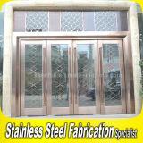 Portello di entrata di vetro di obbligazione commerciale esterna dell'acciaio inossidabile dell'interiore