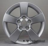 Rueda de aluminio de 15 pulgadas de la aleación del coche con la plata