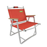 Einfaches Lightweight Fishing Outdoor Camping 600d Polyester Folding Portable Low Chair (mit hölzerner Armlehne)