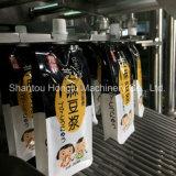 飲料柔らかい袋の詰物および口のキャッピング機械