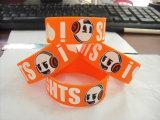 Wristband stampato poco costoso su ordinazione del silicone di sport del Mens di Debossed del regalo promozionale