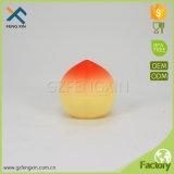30ml fruto de la forma de aceite esencial pet jarros de plástico para el cuidado de la piel crema jarra de forma de melocotón