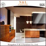 Module de cuisine de modèle neuf avec la porte en bois de Module de cuisine de placage