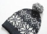 Chapéu bonito de venda quente do inverno do jacquard com POM POM