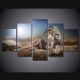 HD imprimió la lona Mc-037 del cuadro del cartel de la impresión de la decoración del taller de impresión de la lona de pintura del grupo del león de los animales