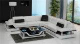 Sofá Home moderno do couro do preto da forma com canto (HC1110)