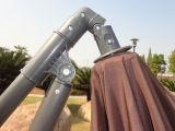 parapluie excentré s'arrêtant de patio de jardin de 3m avec la base en travers
