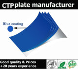 Plate-forme CTP thermoconductrice à revêtement bleu