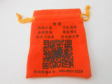 Pequeno saco Flannelette com logotipos de impressão (GZHY-DB-008)