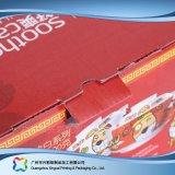 Caixa cosmética de empacotamento embalada plano barato impressa da medicina da dobradura (xc-cbk-002)