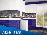 100X300mm Glanz Royalblue keramische Glasur-Innenhotel-Wand-Fliese