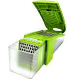 Зеленый многофункциональный Slicer гения кухни