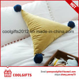 Cuscino di manovella decorativo sveglio caldo del triangolo POM POM della peluche