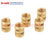 Noix en laiton de garniture intérieure pour thermoplastique décrit avec de Doubles-Twilled moletages