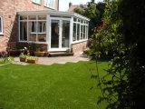 40mmの美化の草は、人工的な草、庭の装飾(L40)庭いじりをする