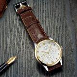 Orologio di lusso del calendario 374 della vigilanza classica del quarzo per gli uomini