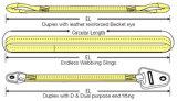 Imbracatura di sollevamento della cinghia di sicurezza della tessitura 5ton