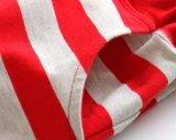 줄무늬를 뜨개질을 해 작은 아이 소년은 아이들 100%년 면 스포츠 간결을 헐덕거린다