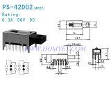 interruptor de pulsador del interruptor de restauración de 4p2t 0.3A (PS-42D02)