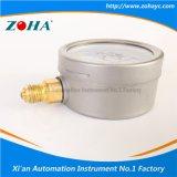 Manómetro da resistência de choque com conexão do aço inoxidável e do bronze