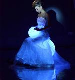 Платье способа ткани волокна платьев венчания светящее и ослеплять цвет ткани волокна изменяя