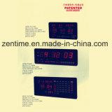 Grande orologio di Digitahi d'emissione rosso della parete del LED