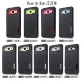 Nuevas cajas del teléfono de la fibra del carbón para la galaxia J5 2016 de Samsung