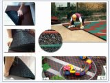 Esteras de goma de la seguridad del patio al aire libre colorido espesor de los 2.5cm y de los 5cm
