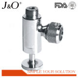 Aço inoxidável sanitário apertado provando a válvula