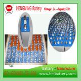 Tipo Pocket bateria recarregável de Hengming 1.2V70ah Kpm70 da série de Kpm da bateria de cádmio niquelar (bateria Ni-CD)