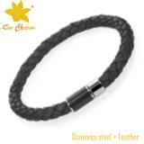 Uomini di cuoio del braccialetto tessuti fascino dell'ancoraggio di modo Stlb-021