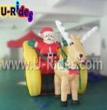 Dessin animé gonflable de Noël du père noël pour la décoration