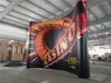 展覧会ショーPVCによっては耐久の品質の旗の立場の表示が現れる