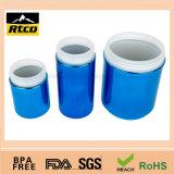 Frasco de galvanização dos esportes do cromo para o suplemento ao pó da nutrição com tampa