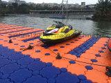 耐久の青いプラスチック浮遊ポンツーンのドックはジェット機のスキー浮遊物を使用した