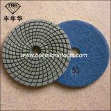 Nasse flexible Polierauflagen des Diamant-Wd-4