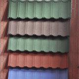 Mattonelle di tetto rivestite del piatto di tetto del metallo di colore/metallo della pietra