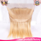 Straight 613 Blonde Virgin Hair Pre Plucked Ear to Ear 360 Lace Frontal Encerramento