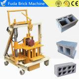 Máquina de fatura de tijolo concreta móvel manual do cimento de Qt40-3c