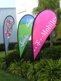 Bandera a todo color al aire libre del indicador del cuchillo de la impresión de la promoción para hacer publicidad