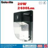 5 da garantia da parede anos de iluminação 120V 277V 230V IP65 do bloco Waterproof a lâmpada de parede ao ar livre do diodo emissor de luz 20W