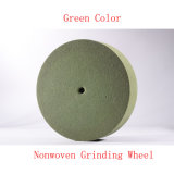 """6つの"""" X1 """" 5pのNonwoven粉砕車輪の緑のスカウラーのパッドの表面の調節の車輪"""
