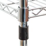 4 prateleira ajustável da cremalheira de fio do escritório do metal do cromo das séries DIY 250kg
