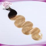 Cheveux humains blonds de Remy de vente de Vierge chaude de la couleur 613